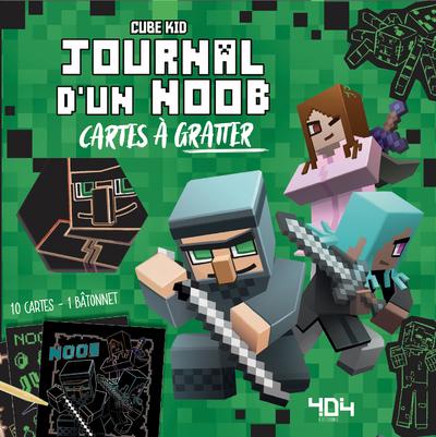 Journal d'un Noob Minecraft : Mes cartes à gratter - Cartes à gratter - De 7 à 11 ans