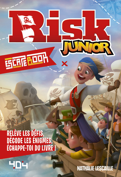 Escape book Risk Junior (Hasbro) - Escape book enfant - Livre-jeu avec énigmes - De 8 à 12 ans