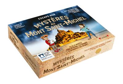 Escape box - Mystère au Mont-Saint-Michel – Escape game enfant de 2 à 5 joueurs avec 40 cartes, 1 livret, 1 poster et 1 bande-son  – À partir de 7 ans