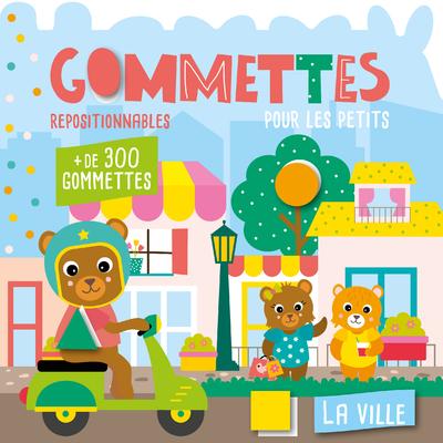 Mon P'tit Hemma – Gommettes pour les petits – La ville – Livre de gommettes repositionnables – dès 3 ans