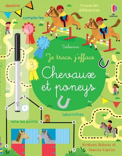 Chevaux et poneys - Je trace, j'efface