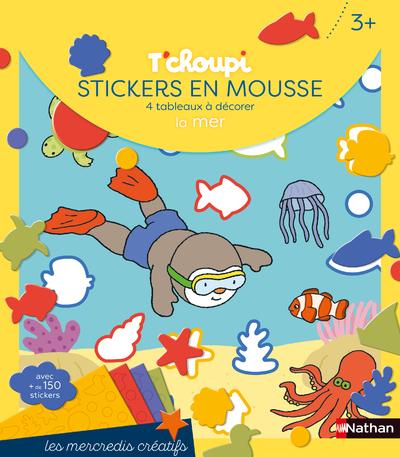 Les mercredis de T'choupi - Stickers mousse de la mer - Dès 3 ans