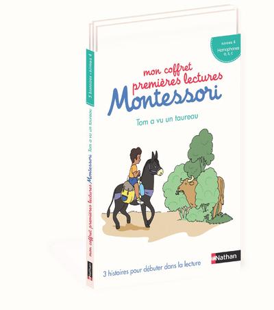 Mon coffret premières lectures Montessori - Tom a vu un taureau - Niveau 4 - dès 4 ans