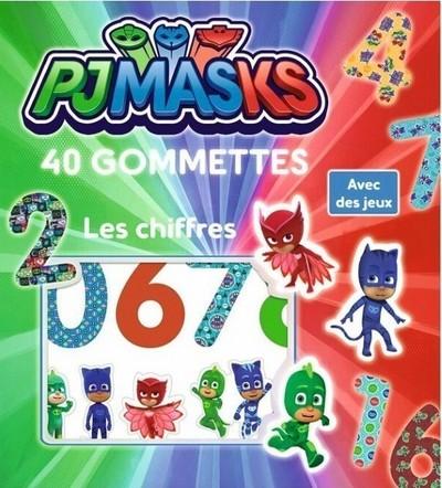 Pyjamasques - Les chiffres 40 gommettes