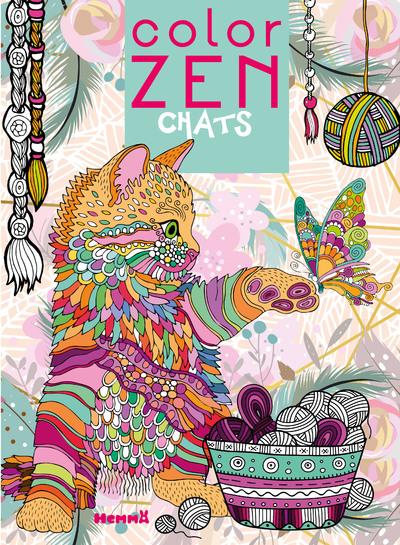 Color Zen - Chats - Livre de coloriage détente - dès 7 ans