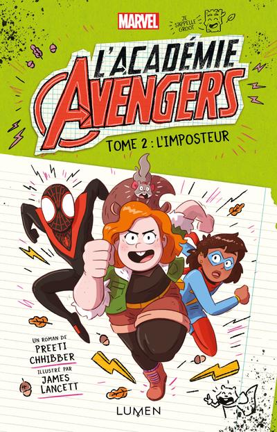 Moi, c'est Doreen mais, entre nous, je préfère qu'on m'appelle par mon nom de super-héroïne : Écureuillette ! Avec ma plus fidèle acolyte, Tite-Pattes, et tous mes super-copains (Spider-Man, Miss Marvel et Kid Apocalypse… une belle brochette, non ?), on est de retour à l'académie Avengers. Youpi !!! La noix sur le gâteau ? Captain Marvel a engagé de nouveaux profs pour nous faire cours : Thor, le dieu du Tonnerre en personne, mais aussi deux des Gardiens les plus déjantés de la Galaxie, j'ai nommé (roulement de tambour)… Rocket et Groot ! La classe intergalactique, pas vrai ? Mais ça, c'était sans compter sur tous ces phénomènes inexpliqués qui se multiplient à l'académie : ils touchent plusieurs enseignants, mais aussi des élèves ! Tout part en cacahouète, c'est moi qui vous le dis ! Attention les yeux, les amis ! Quelqu'un s'amuse à semer la zizanie au sein de l'académie Avengers et j'ai bien l'intention de découvrir qui ! Foi d'Écureuillette !