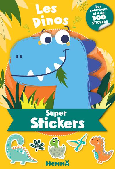 30 pages contenant + de 500 stickers aux formes variées pour tout décorer ainsi que 30 pages de coloriages qui vont enchanter les petits fans de dinos drôles et colorés !