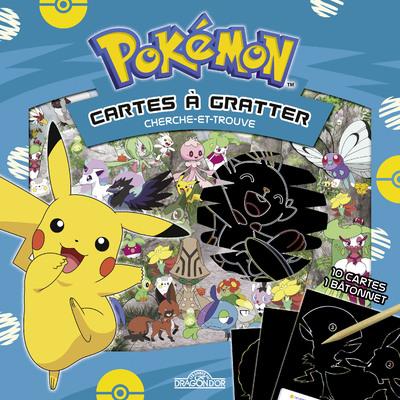 Dans cette pochette, tu trouveras 10 cartes à gratter grâce à un bâtonnet, pour t'amuser et relever d'incroyables défis, dignes d'un véritable Dresseur Pokémon! En grattant les scènes de cherche-et-trouve, sauras-tu retrouver tous les Pokémon?